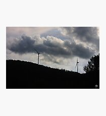 Turbines in a Painted Sky Photographic Print