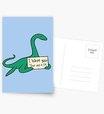 Ich hasse dich, dein Hund ist okay (Plesiosaur) Postkarten