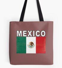 Mexico Distressed Flag Retro Soccer Tee Tote Bag