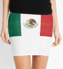 Mexico Distressed Flag Retro Soccer Tee Mini Skirt