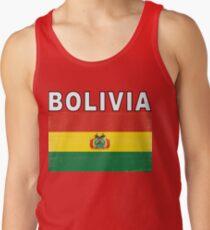 Bolivia Distressed Flag Retro Soccer Design Tank Top