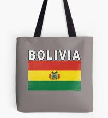Bolivia Distressed Flag Retro Soccer Design Tote Bag