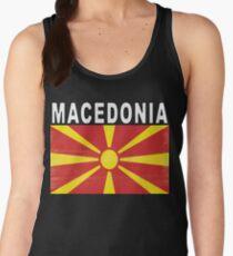 Macedonian Distressed Flag Soccer Team Women's Tank Top
