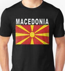 Macedonian Distressed Flag Soccer Team Unisex T-Shirt