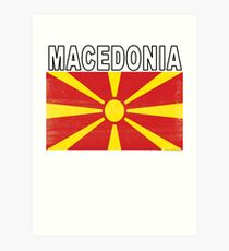 Macedonian Distressed Flag Soccer Team Art Print