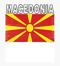 Macedonian Distressed Flag Soccer Team Photographic Print