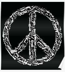 Weapon Peace black Poster