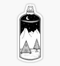 Bottled landscape Sticker