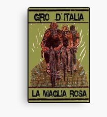 GIRO d ITALIA: Vintage Cycle Racing Advertising Print Canvas Print