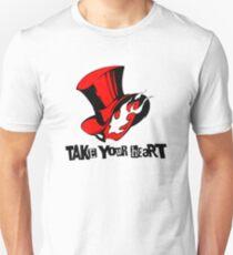 """Phantom Thief logo """"Take Your Heart"""" Unisex T-Shirt"""