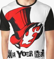 """Phantom Thief logo """"Take Your Heart"""" Graphic T-Shirt"""