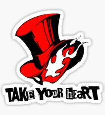 "Phantom Thief logo ""Take Your Heart"" Sticker"