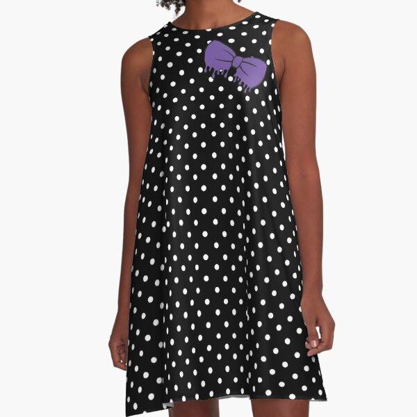Purple Drippy Bow A-Line Dress