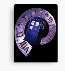 Dr. Who Clock Faces Canvas Print
