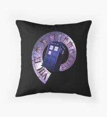 Dr. Who Clock Faces Throw Pillow