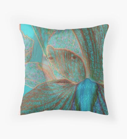 me blue ghost Throw Pillow