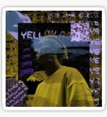 yellow days collage Sticker