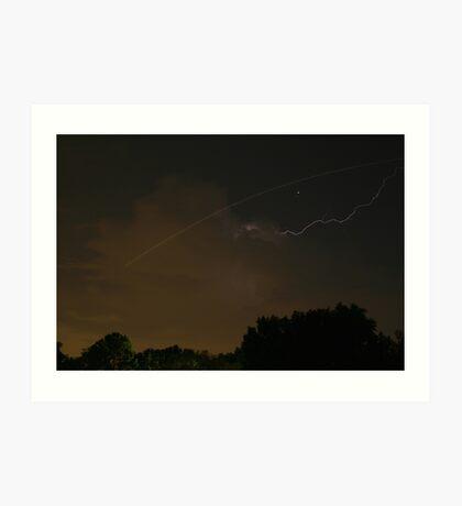 Cloud-To-Air Lightning Art Print