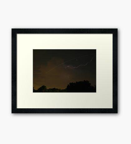 Cloud-To-Air Lightning Framed Print