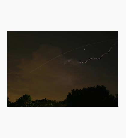 Cloud-To-Air Lightning Photographic Print