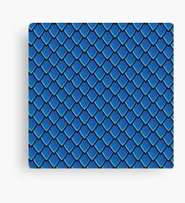Dragon Scales (Blue) Canvas Print