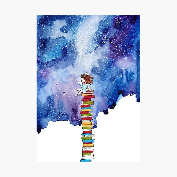 A Tiny Book Lover Photographic Print