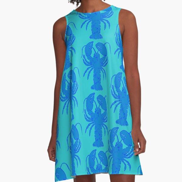 Blue Maine Lobster A-Line Dress