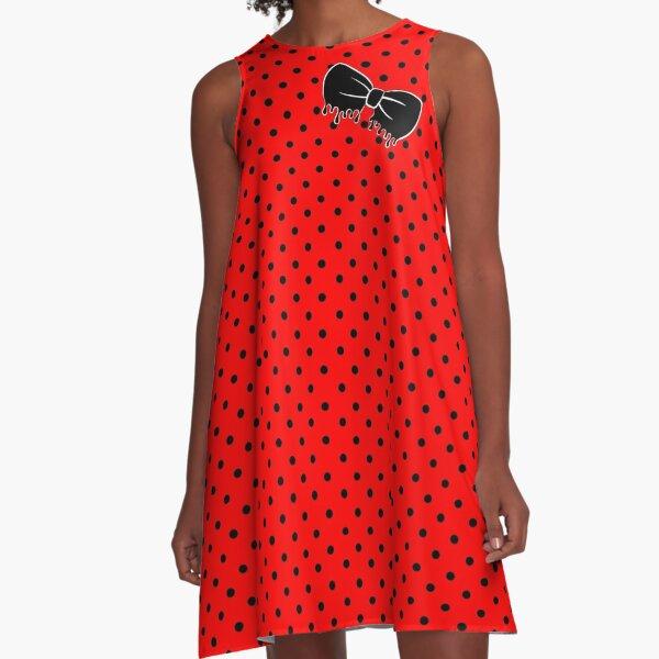 Rockabilly Drippy Bow A-Line Dress