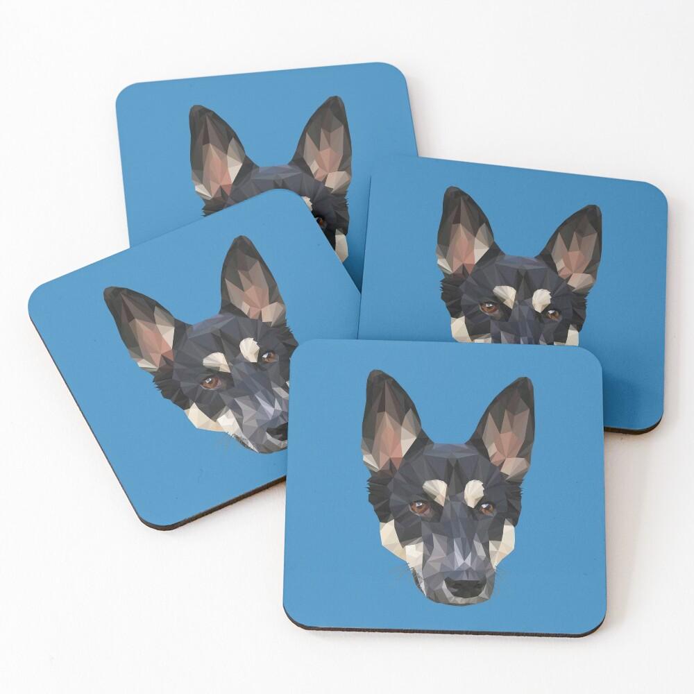Digital Dog Coasters (Set of 4)