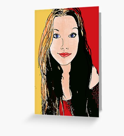 Digital Amy-lee Greeting Card