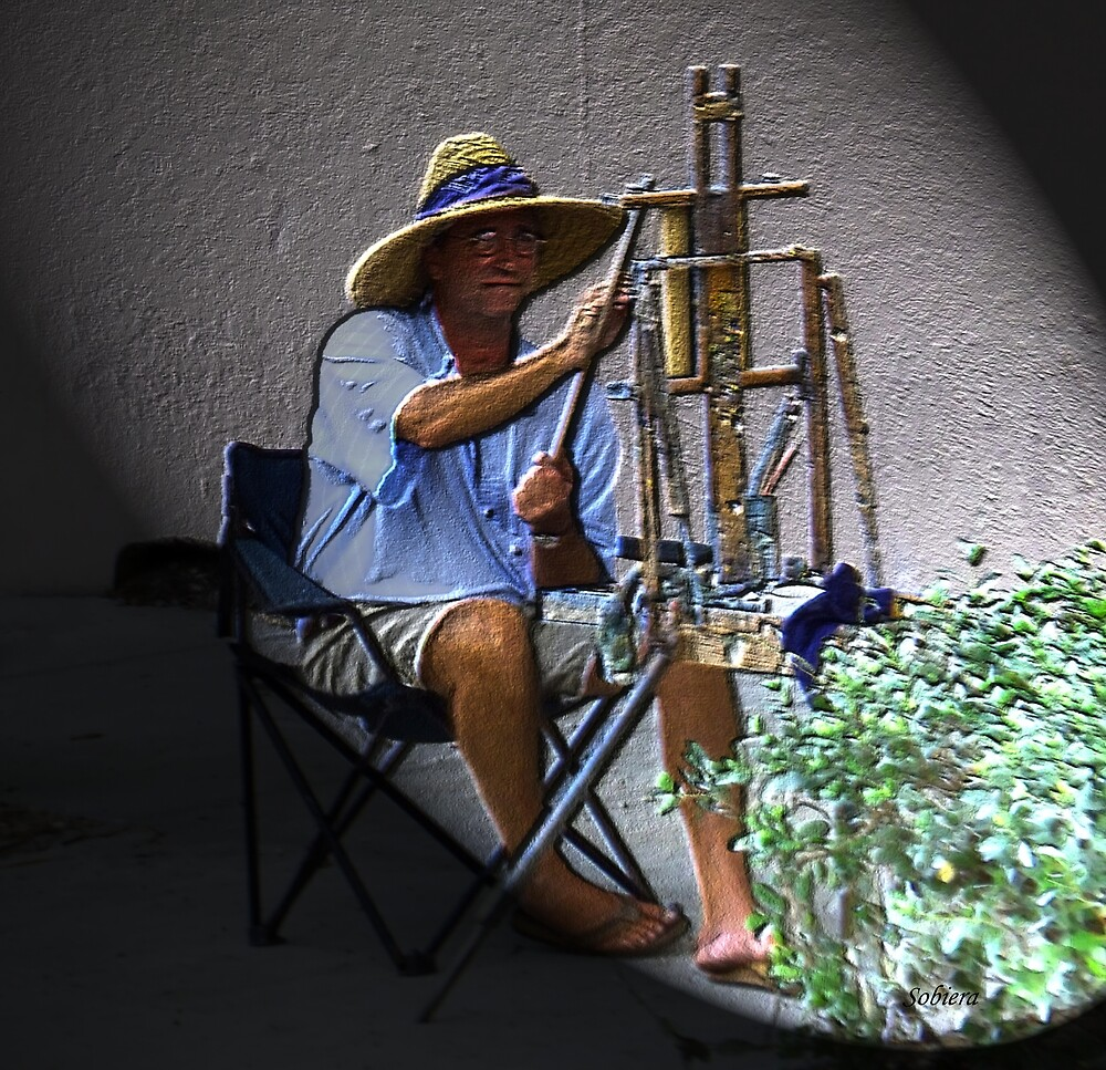 Artist At Work by Rosemary Sobiera