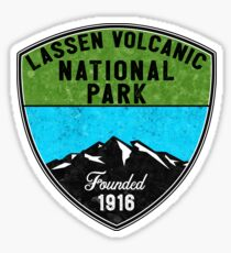 LASSEN VOLCANIC NATIONAL PARK CALIFORNIA MOUNTAINS HIKE HIKING CAMP CAMPING 2 Sticker