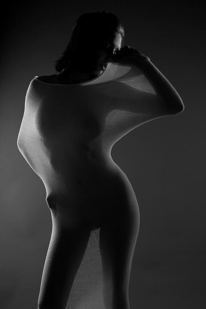 Ella De Vine in White. by Dave Hare