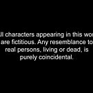 Disclaimer by stonestreet
