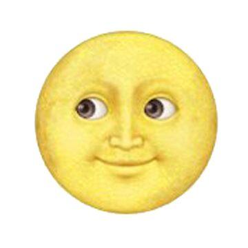 Yellow Moon Face Emoji by DennisNewsome