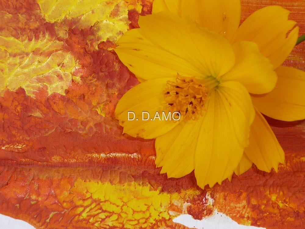 Yellow 0n Orange by D. D.AMO