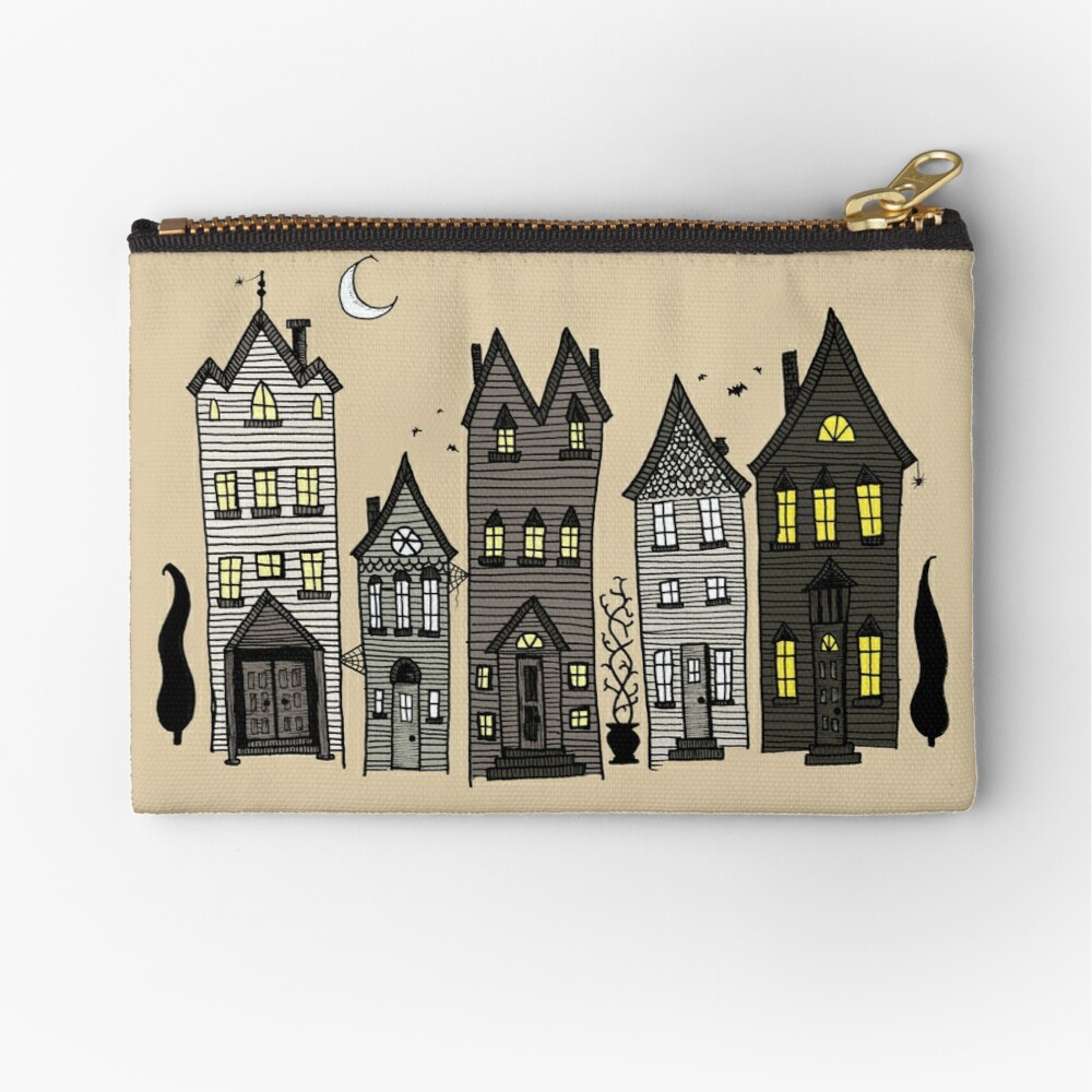 Haunted Houses Zipper Pouch