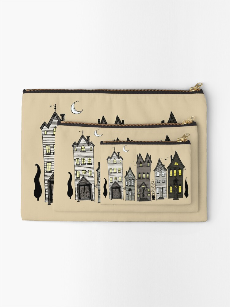 Alternate view of Haunted Houses Zipper Pouch