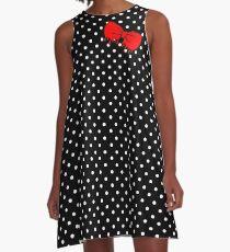 Minnie Drippy Bow A-Linien Kleid