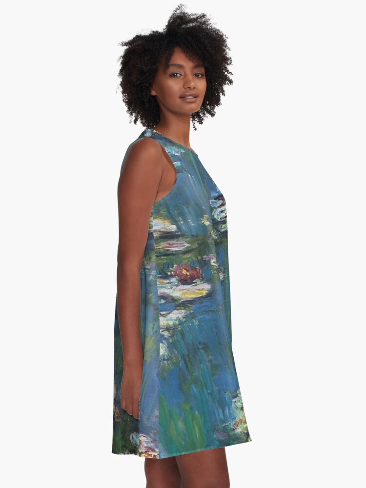 Alternate view of Water Lilies by Monet A-Line Dress