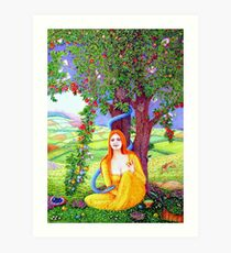The Apple Lady Welcomes You Art Print