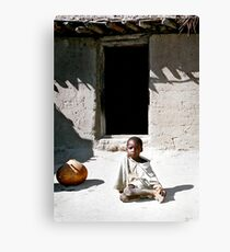 young farmer boy Canvas Print