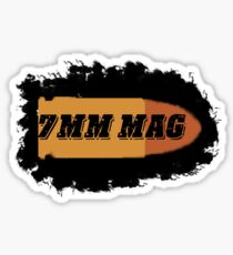 7mm rem mag ammo can label rifle bullet box Sticker