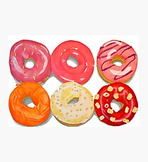 Doughnuts Pack of 6 Photographic Print