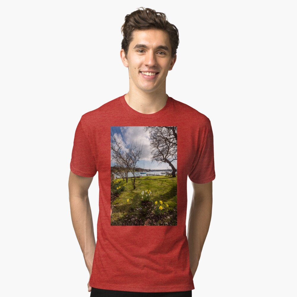 Spring At The Creek Tri-blend T-Shirt