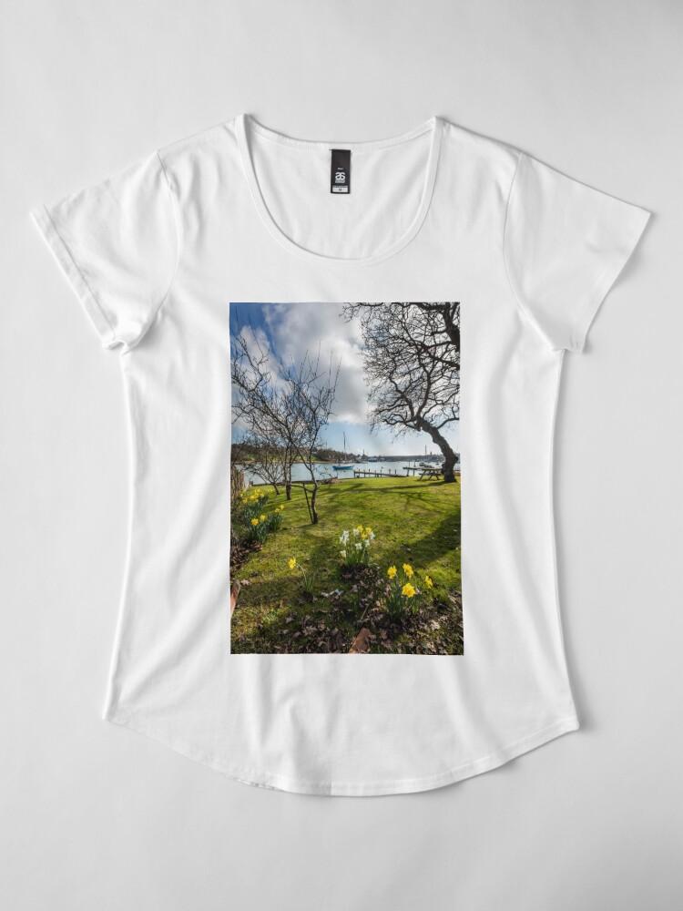 Alternate view of Spring At The Creek Premium Scoop T-Shirt