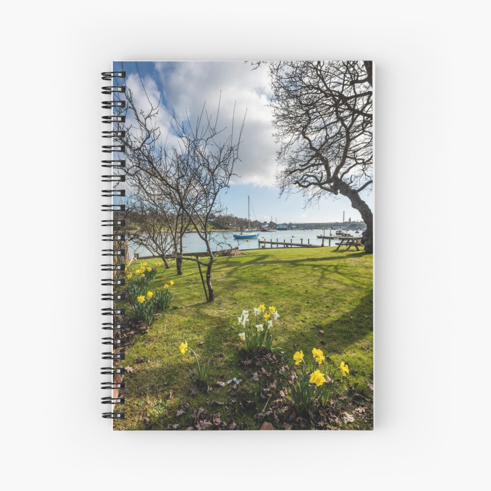 Spring At The Creek Spiral Notebook