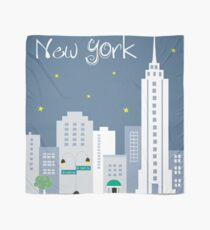 New York, New York - Skyline Illustration by Loose Petals Scarf