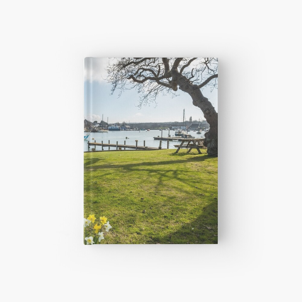 Spring At The Creek Hardcover Journal