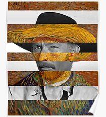 Van Gogh's Self Portrait & Lee Van Cleef Poster